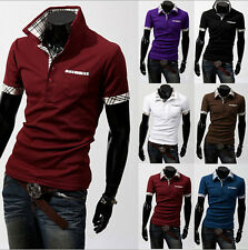 Fashion Mens Slim Fit Stylish POLO Shirt Short Sleeve Casual T-shirts Tee Tops