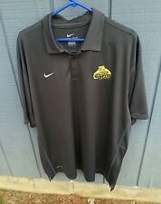 NWT NIKE DRI FIT Mens Reckoning Polo Concordia University Golden Bears MN Gray