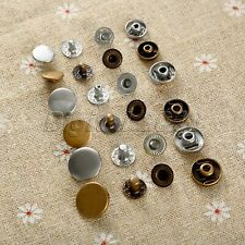 50Pcs 10/12.5/15mm Snap Fasteners Poppers Press Stud Sewing Button Useful Tool