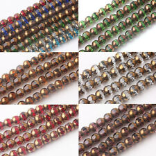New 20/40Pcs Rondelle Faceted Crystal Glass Loose Spacer Charm Bead Findings 8MM