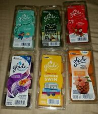 NIP GLADE 6 COUNT WAX CANDLE MELTS SC JOHNSON MIX AND MATCH BUY 1 OR MORE SCENTS