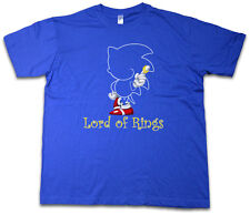 KING Of Rings GAMER T-Shirt Lord Sonic Of Game Nerd The VG Hedgehog Rings Shirt