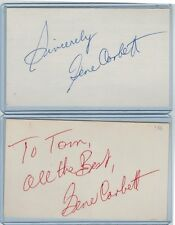 (2) GENE CORBETT INDEX CARD SIGNED 1936-38 PHILLIES PSA/DNA CERTIFIED 1913-2009