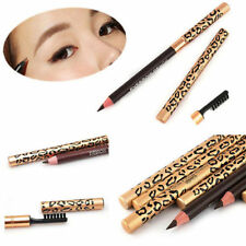 Vogue 1Pc Leopard Longlasting Brown Eyeliner Eyebrow Pencil With Brush Make Up