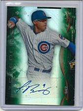 Javier Baez 2014 Bowman Sterling RC Auto Green Refractor /125 Cubs Rookie