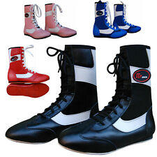 ZstarAX Long Anklet Leather Boxing Boots Shoes Rubber Sole Boots Junior & Adults