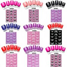 French 3D Transfer Lace Design Nail Art Stickers Manicure Nail Polish Decal Tips