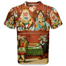 Alice in Wonderland Queen of Hearts Sublimated Men's T-Shirt S,M,L,XL,2XL,3XL