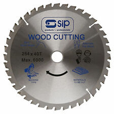 """SIP 06128 CIRCULAR SAW BLADE 10"""" 30MM (40T) FOR 01574 / 01930"""