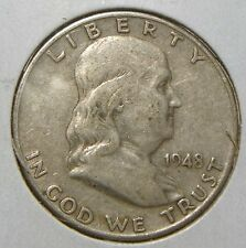 1948  FRANKLIN HALF DOLLAR~~FINE~~SILVER~~BETTER DATE