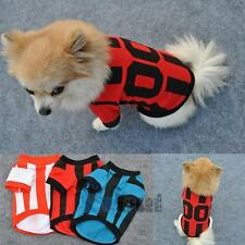 Pet Dog Cute Summer Shirts Puppy Sports Clothes Small Dog Cotton T-Shirts XS-L