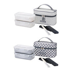 Lock&Lock Bento Lunch Box Set w/Chopstics Insulated Bag HPL752C