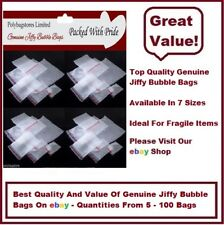JIFFY BUBBLE WRAP BAGS/POUCHES SELF SEAL - ALL SIZES