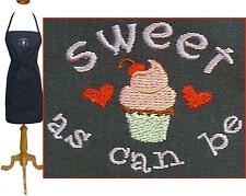 """Cupcake Apron Sweet As Can Be Monogram Bakery Kitchen Baker Bake Chef 24"""" or 30"""""""