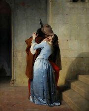 The Kiss - Francesco Hayez Giclee Canvas Print