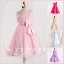 Kids Communion Pinks Wedding Party Bridesmaid Flower Girls Dresses SIZE 2 to 10T