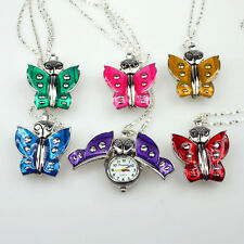Mixed Bulk Lot of 10PCS Butterfly Pendant Necklace Watches Party Gift GL08T