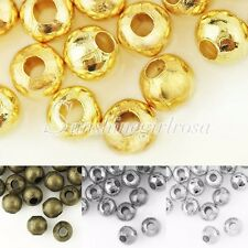 20g About 150/60pcs 4/6mm Round Spacer Crimps End Beads Jewelry Findings CP21-27