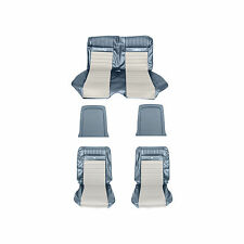 1965-1966 Ford Mustang Conv Standard Interior to Pony Conversion Kit Blue White