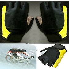Cycling Gloves Gel Silicone Half Finger Gel M L XL Bicycle MTB Road Bike Yellow