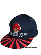 Boys/Teenagers ANGRY BIRDS I'M SO FLY Navy & Red Peaked Cap/Sun Hat    6-14 yrs