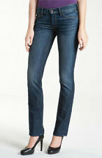 NWT $198 7 FOR ALL MANKIND CLASSIC STRAIGHT LEG MEDIUM BLUE STRETCH JEANS 25