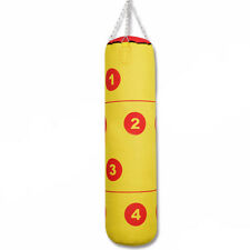 Boxing Punch Bag 4ft Canvas Martial Arts Kick Muay Thai Training Hanging Chain