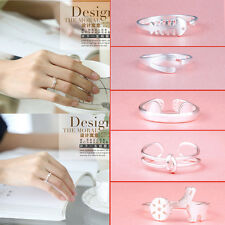 925 Sterling silver ring finger fashion women lady Ring opening Adjustable