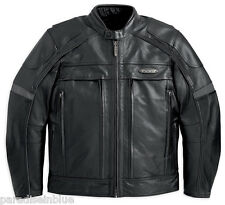 Harley Davidson Men FXRG Waterproof Pocket System Leather Jacket 98040-12VM L XL