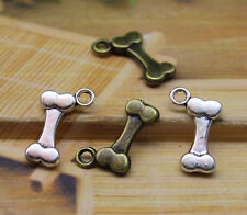 Free shipping 30 PCS delicate lovely Tibetan silver charms double-sided dog bone