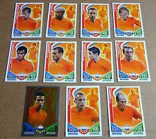 MULTI-LIST SELECTION OF TOPPS MATCH ATTAX 2010 WORLD CUP CARDS;  HOLLAND