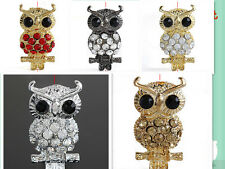 10pc  Crystal Owl  Spacer Bead Charm /Connector Link C0777