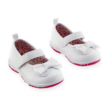 Koala Kids Girls Mary Jane Hard Sole Shoes with Bow Detail and Touch Closure