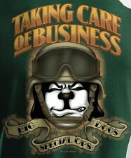 Big Dogs Tee Shirt Taking Care Business Special Ops L XL 3X 4X 5X Dark Green New