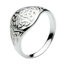 Solid Silver Irish Celtic Trinity Knots Ring Celtic Jewellery Sizes L-Q Boxed