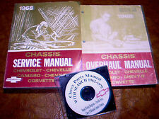 1968 Chevrolet Manuals & Parts CD Chevelle Camaro Nova Corvette II Impala SS 396