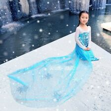 J707 Frozen Queen ELSA Cosplay Costume Dress CUSTOM KID girl PARTY PRINCESS