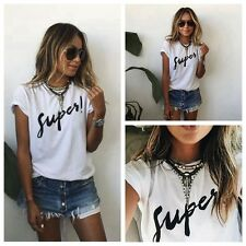 New Fashion Women Summer Vest Short Sleeve Blouse Casual Tank Tops T-Shirt AS