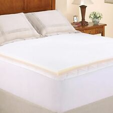 "1.5"" Memory Foam Combo Mattress Topper Twin XL Full Queen King Size Pad Bed New"