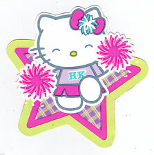 "4.5-7.5"" HELLO KITTY PEP RALLY WALL SAFE STICKER BORDER CUT OUT CHARACTER"