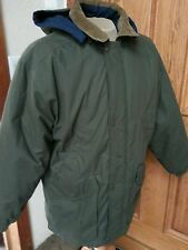 MENS VTG PACIFIC TRAIL HUNTER GREEN JACKET REMOVABLE HOOD FLANNEL LINED SIZE L