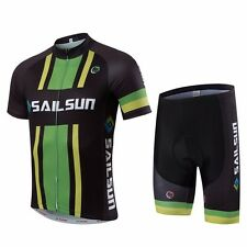 Men Team Summer Bicycle Bike Cycling Clothing Wear Jersey & Bib Shorts Fast-Dry