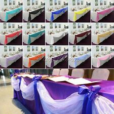 5M*1.35M Sheer Organza Swag DIY Fabric Wedding Top Table Decor Party Bow Valance