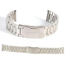 Replacement Bracelet Stainless Steel Watch Strap Band Straight End Silver Link