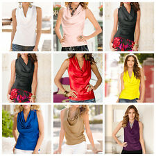 Fashion Women's Causal Round Collar Vest T-shirts Loose Sleeveless Tops Blouse