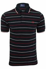Fred Perry Polo T-Shirt Navy Stripe Mod All Sizes