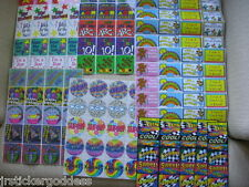 Lot 20 Smilemakers Stickers Birthday Wow Teddy Bears Numbers School Cars Rewards