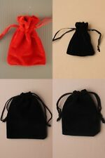 PACK OF 12 VELVET DRAWSTRING BAGS / POUCHES: CHOOSE COLOUR/SIZE CHEAPEST ON EBAY