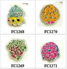 10pcs cupcake strawberry cookie donut chocoloate baby floating charms for locket
