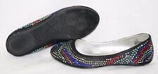 NEW Girls Youth STEVE MADDEN Stevies JPretty Black Studded Slip On Flats Shoes